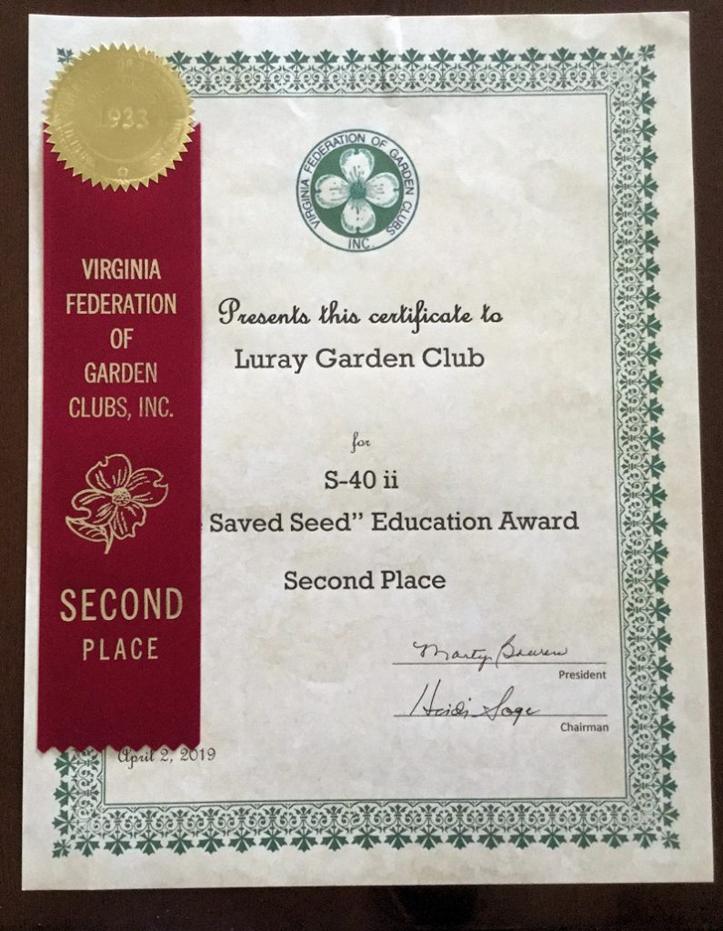 Saved Seed Award