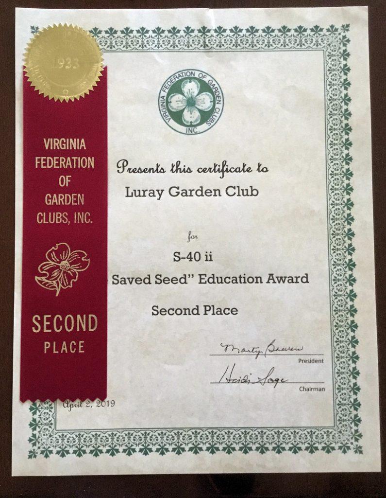 Saved Seed Award