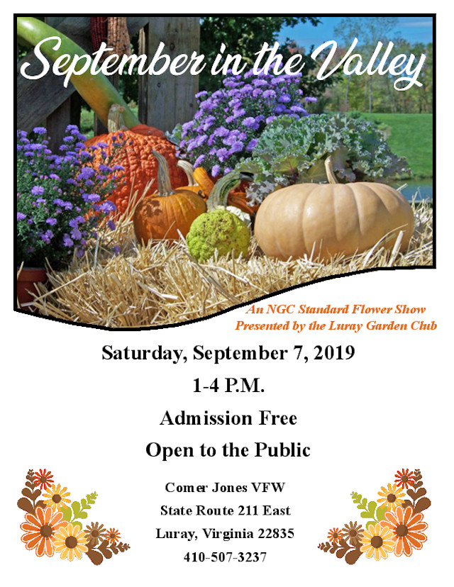 Sept in the Valley LGC Garden Club Flower Show